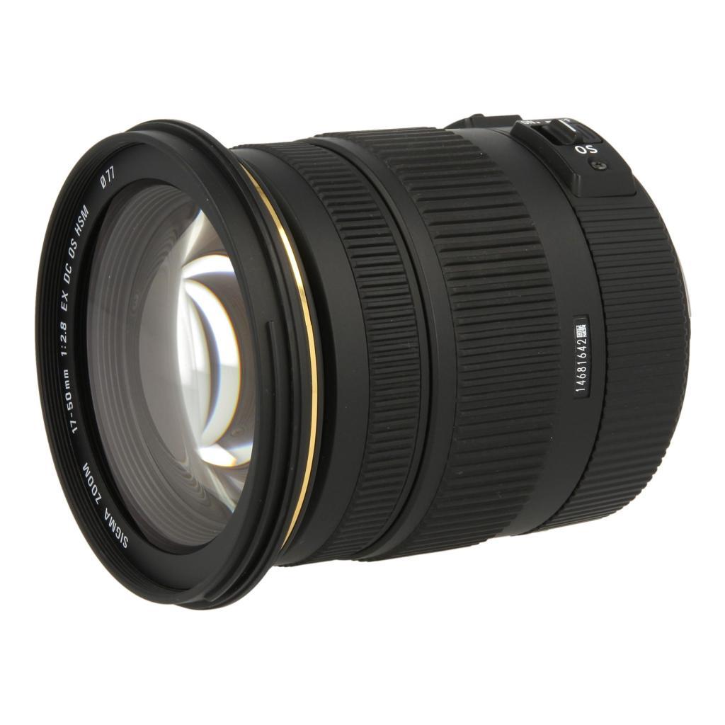 Sigma 17-50mm 1:2.8 HSM EX OS DC Schwarz - neu