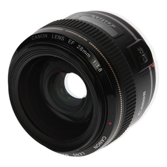 Canon EF 28mm 1:1.8 USM negro buen estado