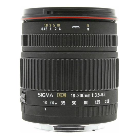 Sigma 18-200mm 1:3.5-6.3 DC para Canon negro buen estado
