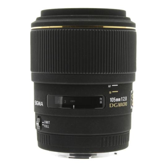 Sigma 105mm 1:2.8 EX DG Macro für Sony & Minolta schwarz gut