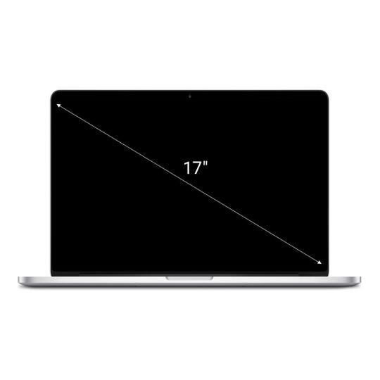 "Apple MacBook Pro 2010 17"" Intel Core i5 2.53 GHz 128 GB SSD 8 GB silber gut"