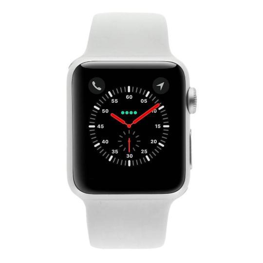 Apple Watch Sport (Gen. 1) 38mm boitier en aluminiumargent avec Bracelet sport blanc aluminium Argent Bon