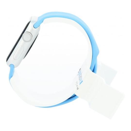 Apple Watch Sport 38mm mit Sportarmband blau Aluminium Silber gut
