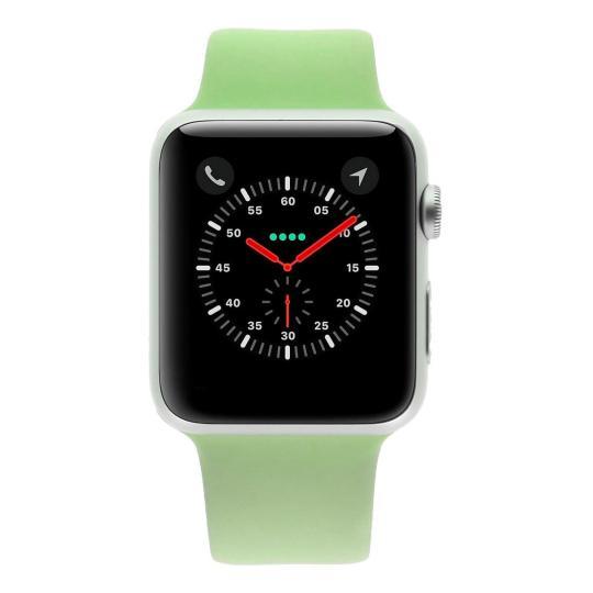 Apple Watch Sport (Gen. 1) 42mm boitier en aluminiumargent avec Bracelet sport vert aluminium Argent Bon