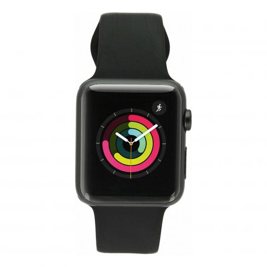 Apple Watch Sport (Gen. 1) 42mm Aluminiumgehäuse Spacegrau mit Sportarmband Schwarz Aluminium Spacegrau gut
