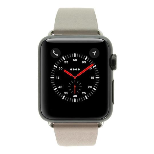 Apple Watch 38mm mit modernem Lederarmband pink edelstahl spaceschwarz gut