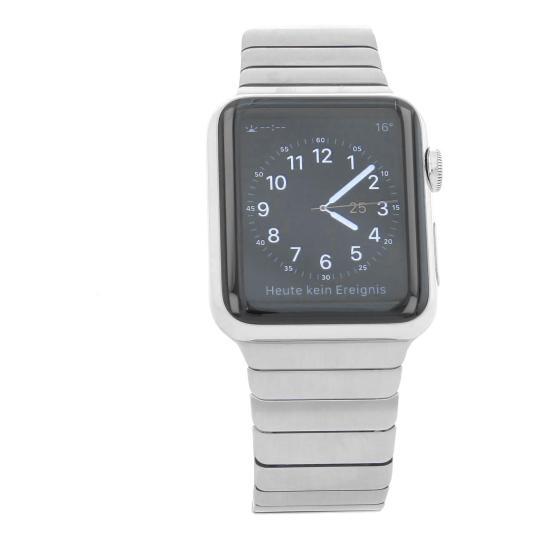 Apple Watch (Gen. 1) 42mm Edelstahlgehäuse Silber mit Gliederarmband Silber Edelstahl Silber gut