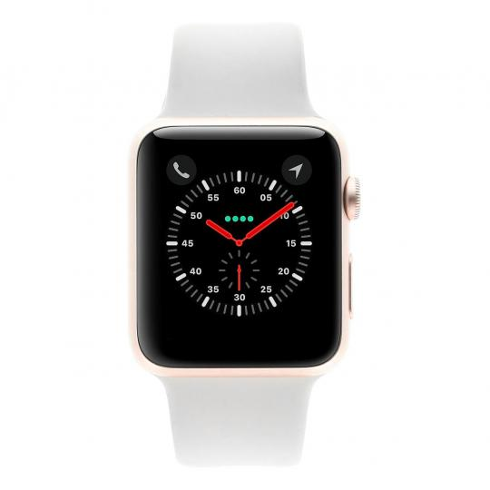 Apple Watch Sport (Gen. 1) 42mm boitier en aluminiumrose or avec Bracelet sport granite aluminium rose or Bon