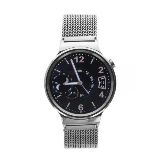 Huawei Watch mit Netzarmband silber Silber sehr gut