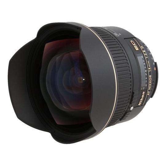 Nikon 14mm 1:2.8 AF D ED RF Schwarz gut