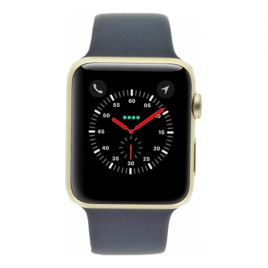 Apple Watch Sport (Gen. 1) 42mm boitier en aluminiumor avec Bracelet sport bleu aluminium or Très bon