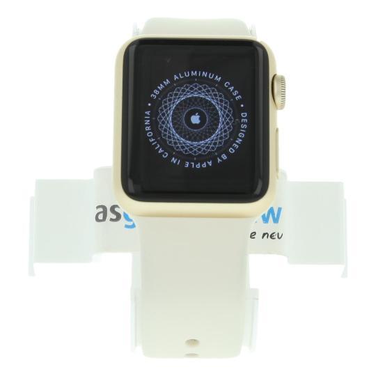 Apple Watch Sport (Gen. 1) 38mm boitier en aluminiumor avec Bracelet sport blanc aluminium or Bon