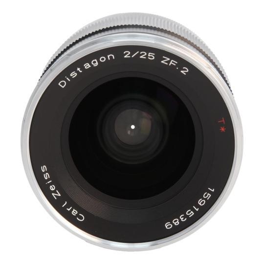 Zeiss Distagon T* 2.8/25 ZF.2 mit Nikon F Mount Schwarz wie neu