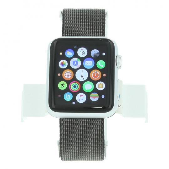 Apple Watch Sport 42mm avec un bracelet en nylon tissé noir argent argent Bon