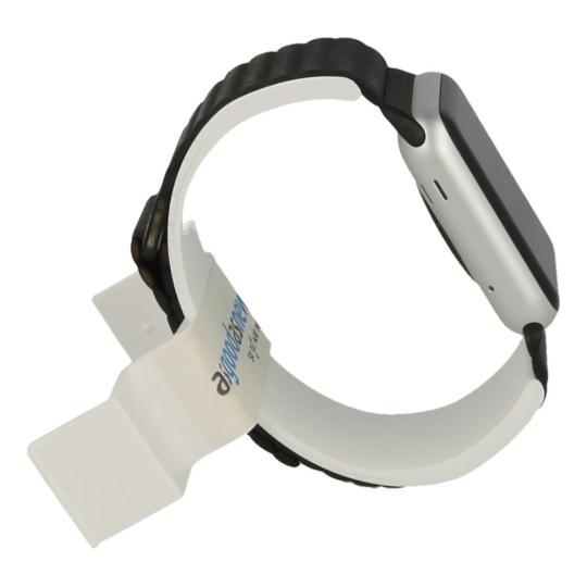 Apple Watch Sport 42mm avec bracelet en cuir avec boucle noir argent argent Bon