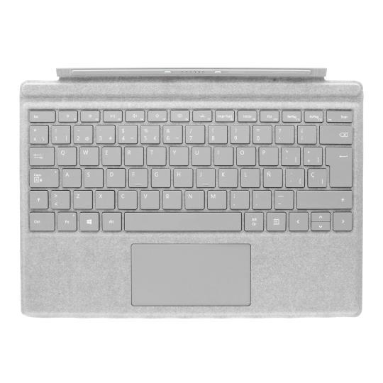 Microsoft Surface Pro 4 Type Cover (A1725) Alacantara grau - QWERTZ sehr gut