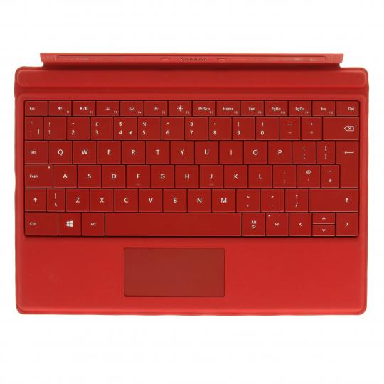 Microsoft Surface Type Cover 3 (A1654) hellrot - QWERTZ sehr gut