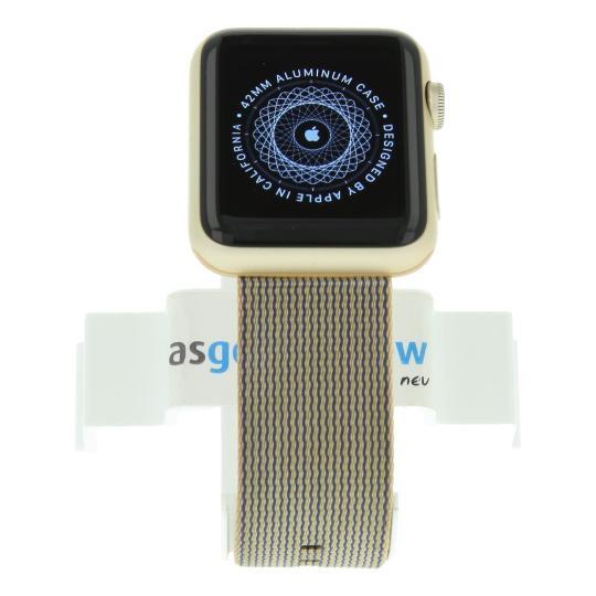 Apple Watch Sport (Gen. 1) 42mm boitier en aluminiumargent avec un bracelet en nylon tissé Royal bleu aluminium or Bon