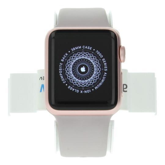 Apple Watch Sport 38mm mit Sportarmband lavendel Aluminium Rosegold gut
