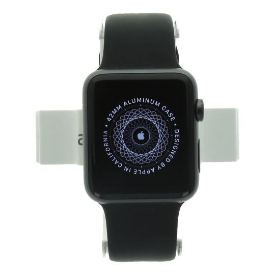 Apple Watch (Series 1) 42mm Aluminiumgehäuse Spacegrau mit Sportarmband Schwarz Aluminium Spacegrau gut