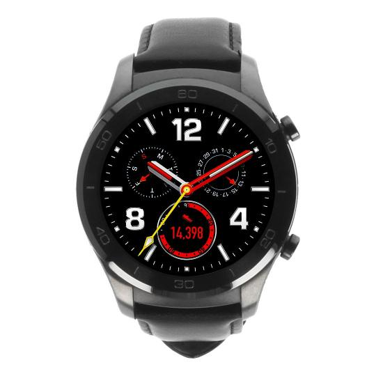 Huawei Watch 2 classic gris avec bracelet en cuir noir gris Neuf
