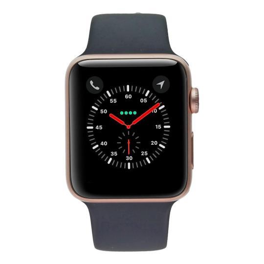 Apple Watch (Series 2) 42mm Aluminiumgehäuse Rosegold mit Sportarmband mitternachtsblau Aluminium Rosegold gut