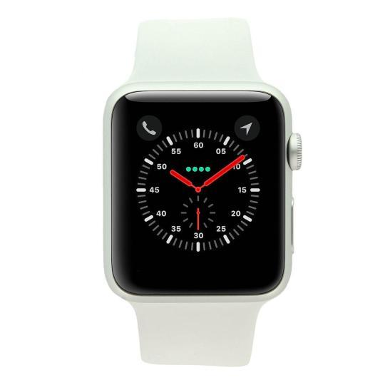 Apple Watch Series 1 Aluminiumgehäuse silber 42mm mit Sportarmband weiß aluminium silber gut