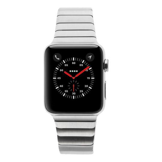 Apple Watch Series 2 Edelstahlgehäuse 42mm silber mit Gliederarmband silber edelstahl silber gut
