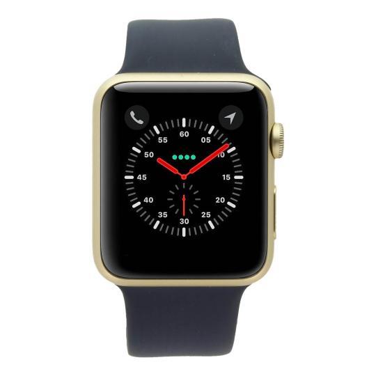 Apple Watch Series 1 Aluminiumgehäuse gold 42mm mit Sportarmband mitternachtsblau aluminium gold gut