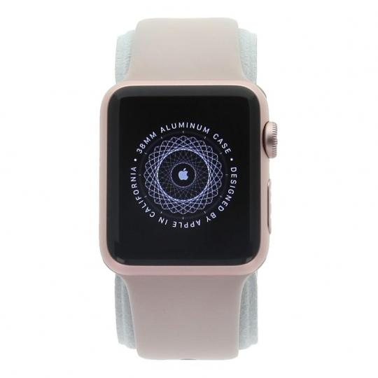 Apple Watch Series 1 Aluminiumgehäuse rosegold 38mm mit Sportarmband sandrosa aluminium roségold gut