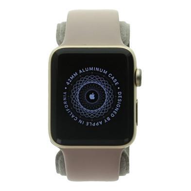 Apple Watch Series 2 Aluminiumgehäuse gold 42mm mit Sportarmband sandrosa aluminium gold gut