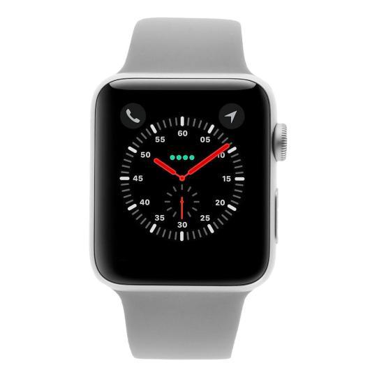 Apple Watch Series 3 Aluminiumgehäuse silber 42mm mit Sportarmband nebel (GPS) aluminium silber gut