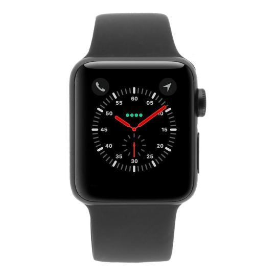 Apple Watch Series 3 Aluminiumgehäuse spacegrau 38mm mit Sportarmband grau (GPS) aluminium spacegrau sehr gut
