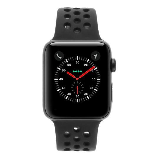 Apple Watch Series 3 Aluminiumgehäuse spacegrau 42mm mit Nike Sportarmband anthrazit / schwarz (GPS) aluminium spacegrau gut