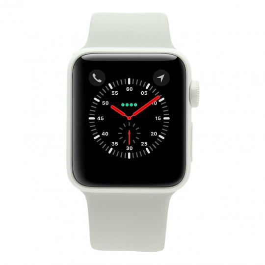 Apple Watch Series 2 Keramikgehäuse weiß 38mm mit Sportarmband weiß keramik weiß gut