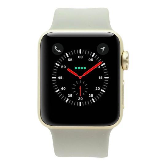 Apple Watch Series 2 Aluminiumgehäuse gold 38mm mit Sportarmband beton aluminium gold gut