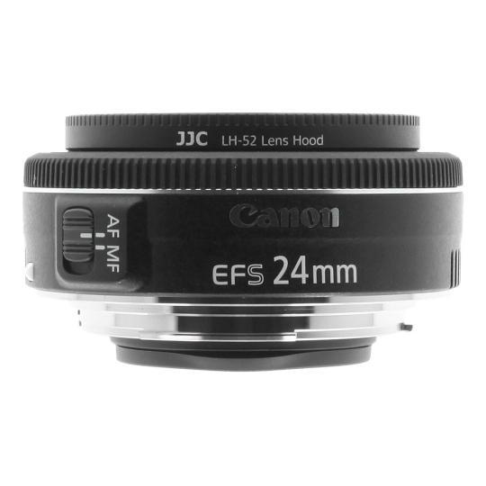 Canon 24mm 1:2.8 EF-S STM schwarz gut