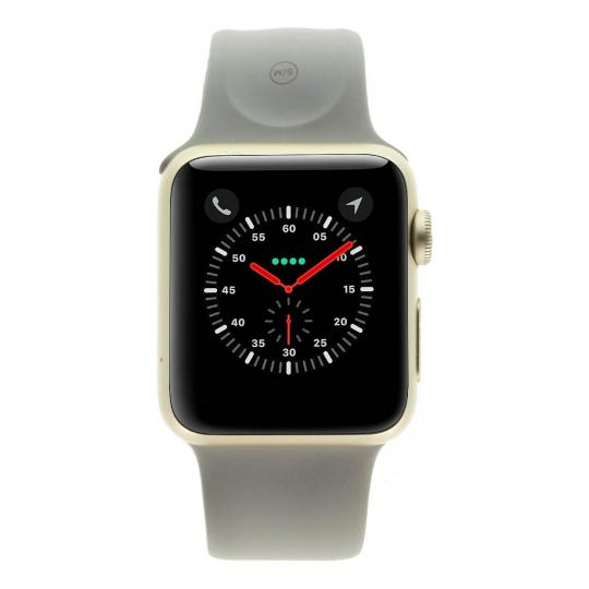 Apple Watch Series 1 Aluminiumgehäuse gold 38mm mit Sportarmband betongrau aluminium gold gut