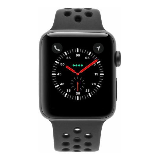 Apple Watch Series 3 Aluminiumgehäuse grau 42mm mit Nike Sportarmband anthrazit / schwarz (GPS + Cellular) aluminium grau gut