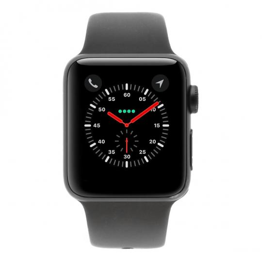 Apple Watch Series 3 Aluminiumgehäuse grau 38mm mit Sportarmband grau (GPS + Cellular) aluminium grau sehr gut