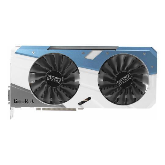 Palit GeForce GTX 1070 Gamerock (NE51070T15P2G) silber/blau wie neu