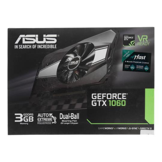 Asus Phoenix GeForce GTX 1060 (90YV0A64-M0NA00) schwarz gut