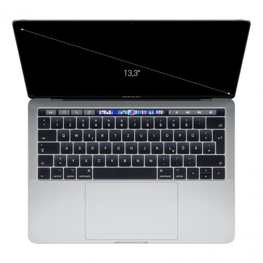 "Apple MacBook Pro 2018 13"" Touch Bar/ID Intel Core i7 2,7 GHz 512 GB SSD 16 GB silber wie neu"