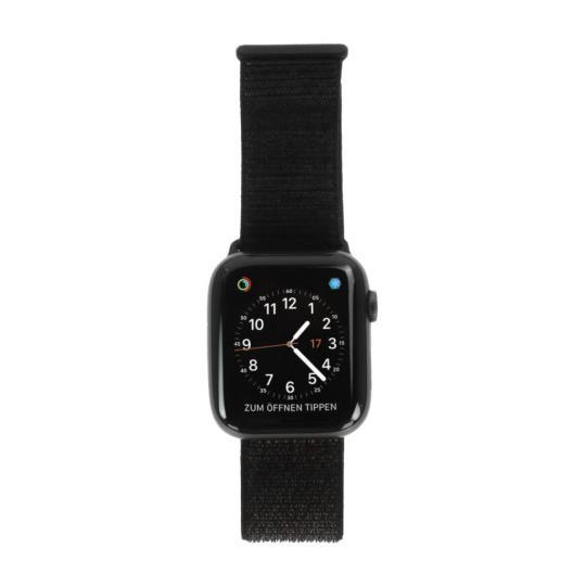 Apple Watch Series 4 Aluminiumgehäuse grau 44mm mit Sport Loop schwarz (GPS) aluminium grau gut