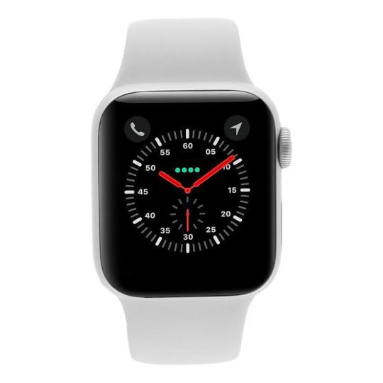 Apple Watch Series 4 Aluminiumgehäuse silber 40mm mit Sportarmband weiss (GPS) aluminium silber gut