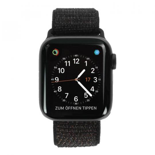 Apple Watch Series 4 Aluminiumgehäuse grau 40mm mit Sport Loop schwarz (GPS+Cellular) aluminium grau gut