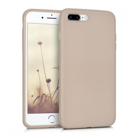 kwmobile TPU Case für Apple iPhone 7 Plus / 8 Plus beige matt (39499.96) neu