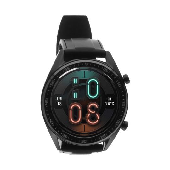 Huawei Watch GT schwarz mit Silikonarmband schwarz  schwarz gut