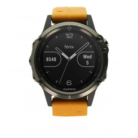 Garmin Fenix 5 Plus Saphir titan orange (010-01988-05) titan sehr gut
