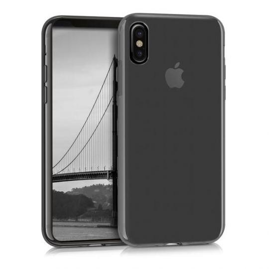 kwmobile Crystal Case für Apple iPhone X schwarz (42500.01) neu